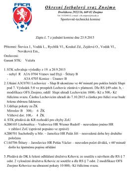 Zápis STK č. 7