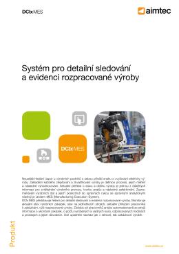 Systém pro detailní sledování a evidenci
