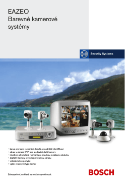 EAZEO Barevné kamerové systémy