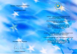 Zapsáno / Registered 05/05/2015 No 002694877