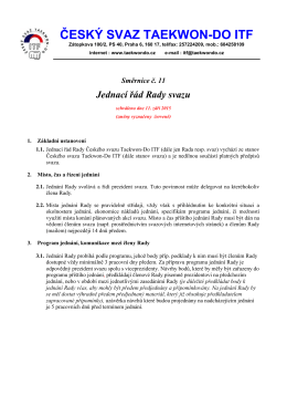 Směrnice č. 11 Jednací řád Rady svazu - Český svaz Taekwon
