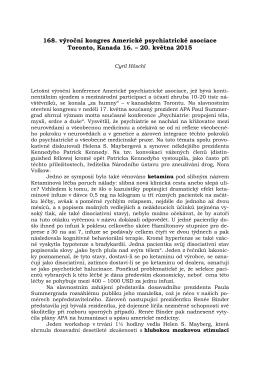 20. května 2015 - Prof. MUDr. Cyril Höschl DrSc. FRCPsych.