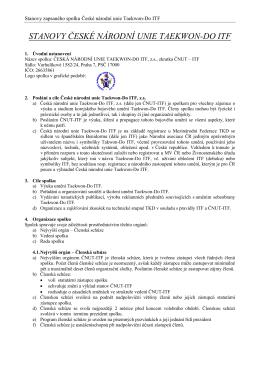 Stanovy České národní unie Taekwon-Do ITF CZ - EN