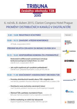 6. ročník, 8. duben 2015, Clarion Congress Hotel Prague