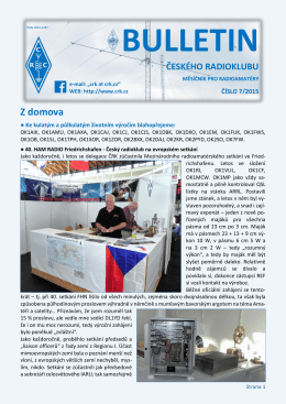 Bulletin ČRK č. 7/2015