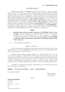 takto: - Mgr. Jan Vedral, Exekutorský úřad Praha 3