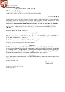 Exekutorský úřad Praha 2 JUDr. Aleš Bayer