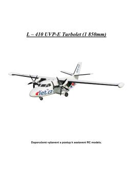 L – 410 UVP-E Turbolet (1 850mm) - KOR