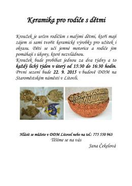 Keramika pro rodiče s dětmi