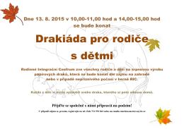 Pozvánka na Drakiádu pro rodiče s dětmi