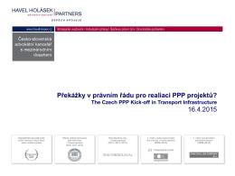 Překážky v právním řádu pro realiaci PPP projektů
