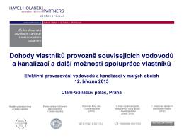 Dohody vlastníků provozně souvisejících VaK – Petr Opluštil