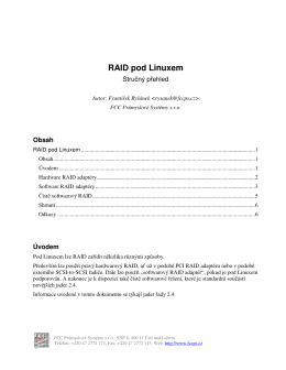 RAID pod Linuxem - FCC