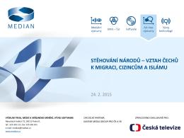 Průzkum agentury Median k migraci a cizincům v ČR