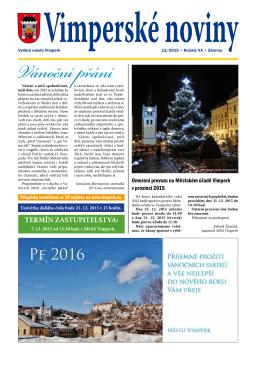 Vánoční přání - Město Vimperk