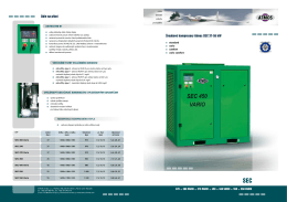 Šroubové kompresory Atmos SEC 37