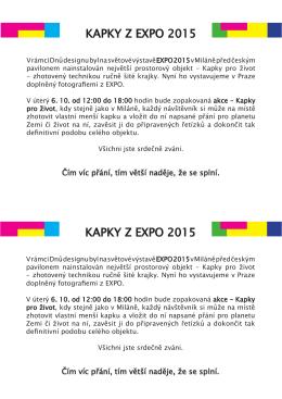kapky z expo 2015 kapky z expo 2015