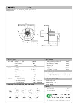 Technický list - ventilátory VZDUCHOVÉ