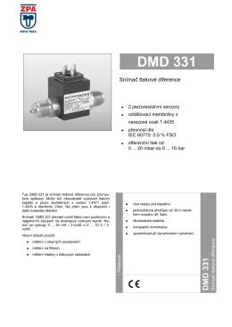 1) Katalogový list DMD 331