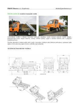 Technické parametry vozidla Magma EURO 5 (formát PDF).