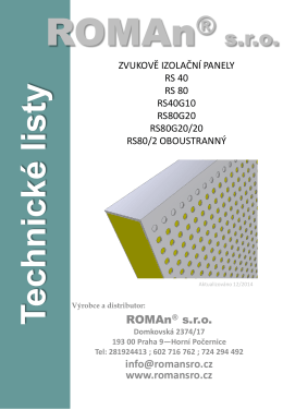 Technické listy RS _2014