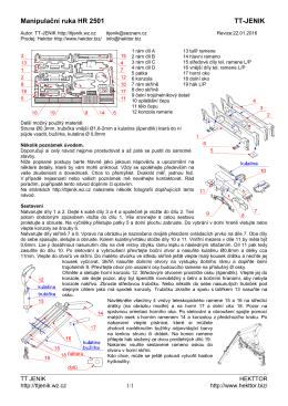 Manipulační ruka HR 2501 - TT