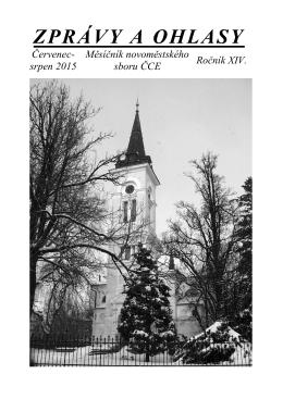 ZPRÁVY A OHLASY - Farní sbor ČCE Nové Město na Moravě