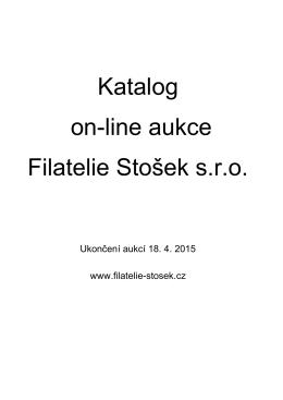 Katalog on-line aukcí 18. 4. 2015