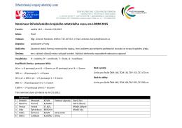 Nominace LODM 2015