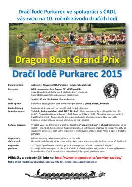 Dračí lodě Purkarec 2015 - Česká asociace dračích lodí