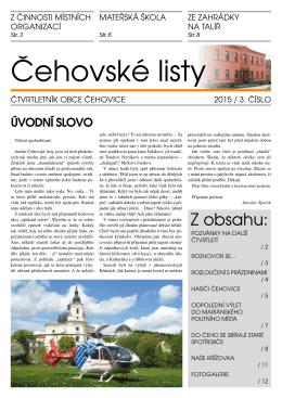 Čehovské listy