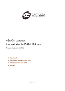 Produkční jednotka Studio DAMÚZA