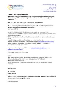 zde - Česká společnost paliativní medicíny