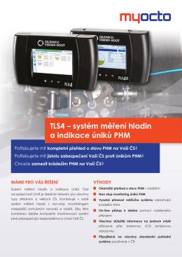 TLS4 – systém měření hladin a indikace úniků PHM