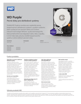 WD Purple Series Spec Sheet