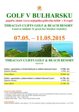 golf v bulharsku - 7.5.