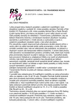 MISTROVSTVÍ ČESKÉ REPUBLIKY RS FEVA 2013