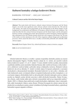 putova-soukup - Historická sociologie