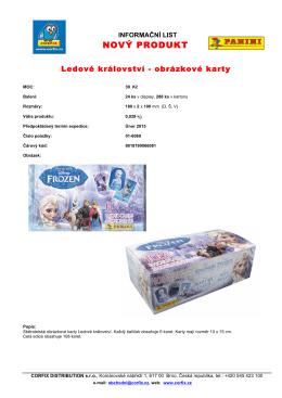Ledové království - obrázkové karty