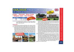 Londýn – Chartwell – Hever Castle – Hampton court – Kew Gardens