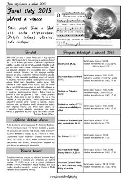 Advent 2015 - Římskokatolická farnost Uherský Brod