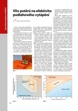 Vliv potěrů na efektivitu podlahového vytápění