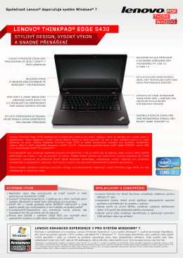 LENOVO® THINKPAD® EDGE S430 - Lenovo