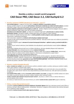 CAD Decor 2.2 - Protea spol. s ro