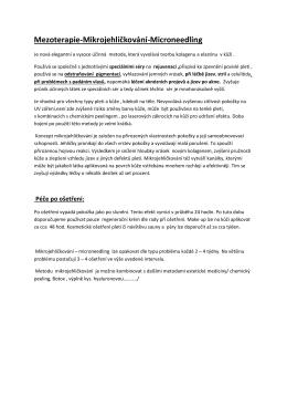 Mezoterapie-Mikrojehličkování