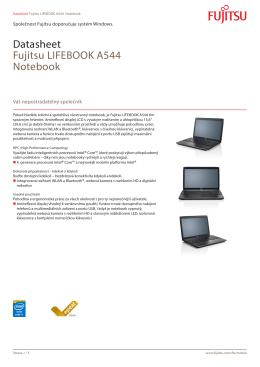 Datasheet Fujitsu LIFEBOOK A544 Notebook