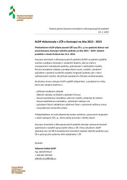 ALDP diskutovala s LČR o Koncepci na léta 2015 - 2019