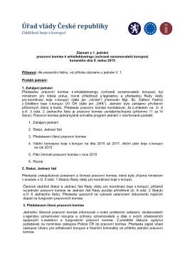 Záznam z jednání pracovní komise k WB_2014.01.09