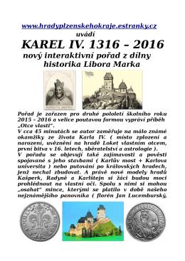 KAREL IV. 1316 – 2016 - Hrady Plzeňského kraje