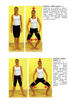 Strečink - baletní pozice - 1. Postavíme se s patami u sebe a špičky